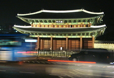Changdeokgung Palace Gate At Night