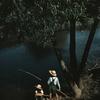 Children Fishing In Bayou At Schiever