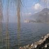 Chillon Gesamtansicht Mit Landschaft