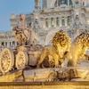 Cibeles Fountain - Downtown Madrid - Spain