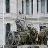 Cibeles Sculpture At Cibeles Fountain In Madrid