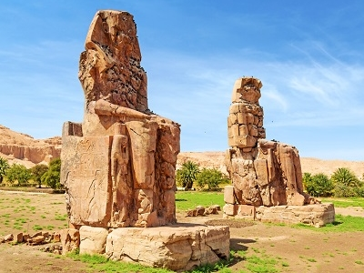 Colossi Of Memnon In Luxor - Egypt