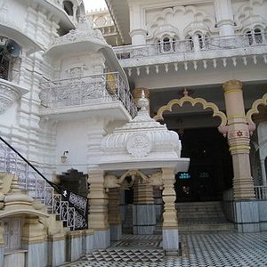 Courtyard Of Chhatarpur Temple