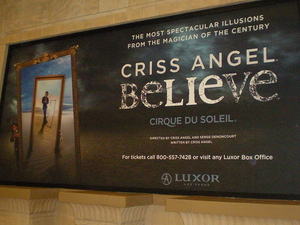 Criss Angel® Believe™ by Cirque du Soleil® at Luxor Las Vegas