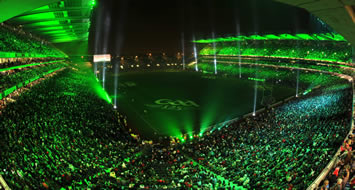 A Fireworks And Light Display In Croke Park