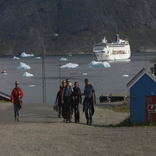 Cruise Ship In Narsaq