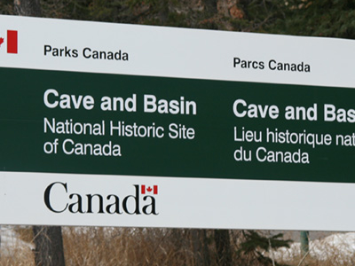 Caveand Basin Entrance Sign