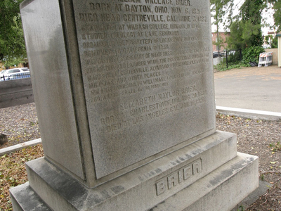 Brier Tombstone Memorial