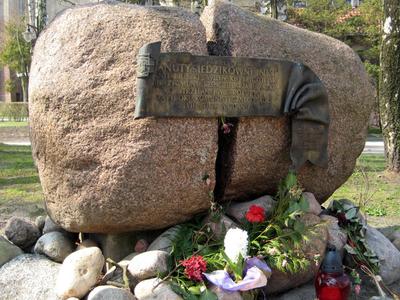 Memorial Stone For Danuta Siedzikowna In Sopot