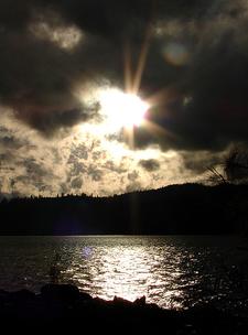 Dark Clouds - Lake View & Sun
