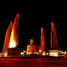 Democracy Monument At Night