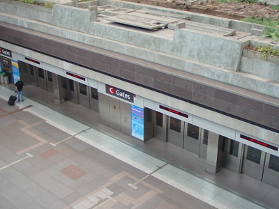 Overhead View Of The Concourse C Train Station