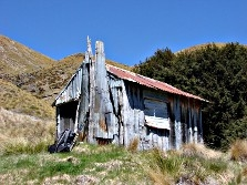 Dilapidated Home Hill Hut