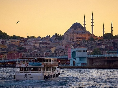 Distinct Mosque Minarets - Istanbul Overview