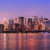 Downtown Manhattan Across Hudson River