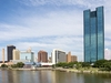 Downtown Toledo With Maumee River OH