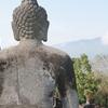 Buddha Statue & Stupas - Back View