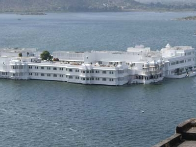 Lake Palace Udaipur Aerial View