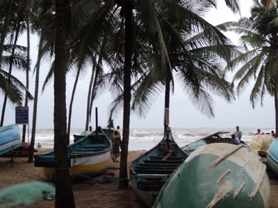 Baga Beach Boats & Palms