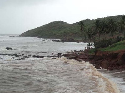 High Tide At Anjuna Beach