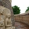 Meditating Buddha Along Circular Stupa Gallery