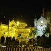 Chhatrapati Shivaji Terminus - Flood-Lit Night View
