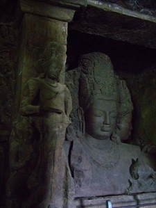 Meditating Maheshwara At Elephanta Caves