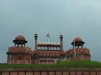 Platform In Front Of Red Fort