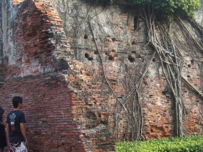 Original Wall Of Red Bricks