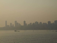 Malabar Hill View From Marine Drive Near Chowpaty