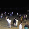 Visitor Groups At Juhu Beach