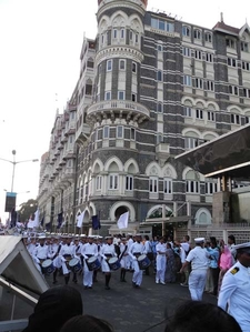Naval Parade Outside Taj Mahal Palace