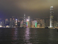 Hong Kong CBD - Night Sky