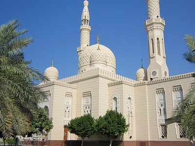 Dubai Jumeirah Mosque View