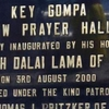 Dedication Plaque For New Prayer Hall Key Gompa