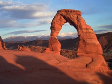 Delicate Arch At Sunset