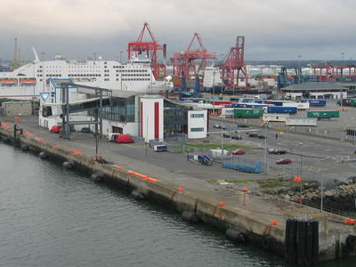 Dublin Port Viewed From MV Ulysses
