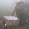 Early Morning View Of The Temple In Foggy Weather
