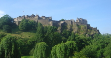 Edinburgh Castle From Down
