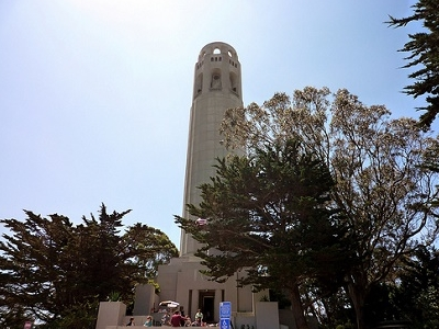 Entering Coit Tower - San Francisco CA