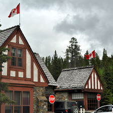 Entry Station For Banff National Park