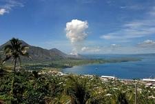 Erupting Tavurvur From Rabaul - Papua New Guinea