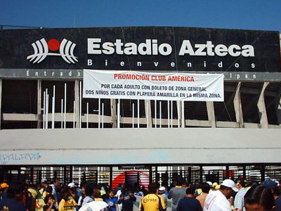 Spectators Outside Estadio Azteca
