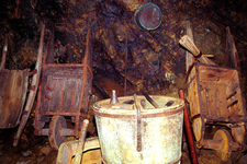 Wheelbarrows And Other Tools Used For Mining