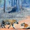 Tadoba Tiger Family Blocking The Road
