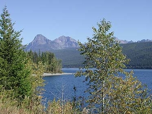 Fish Creek Campground Views - Glacier - Montana - USA
