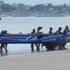 Fishing Boat Landing At Jimbaran Beach