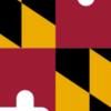 Flag Map Of Maryland
