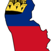 Flag Map Of Liechtenstein