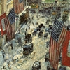 Flags On Fifty Seventh Street Childe Hassam